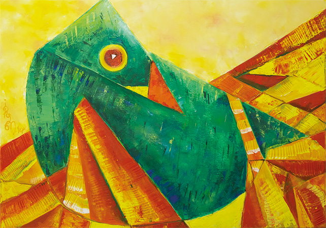 Aves Otium by Nandini Bajekal, oil on canvas, 2014