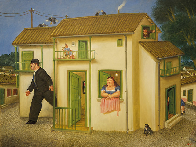 Fernando Botero, House, 1995, Oil on canvas, 118 x 156 cm