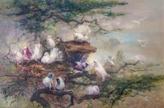 Choo's iconic Doves Painting