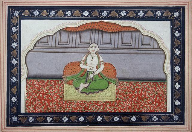 Brahmin Shankaracharya, Kangra, Late 18th Century, 20 x 14 cm
