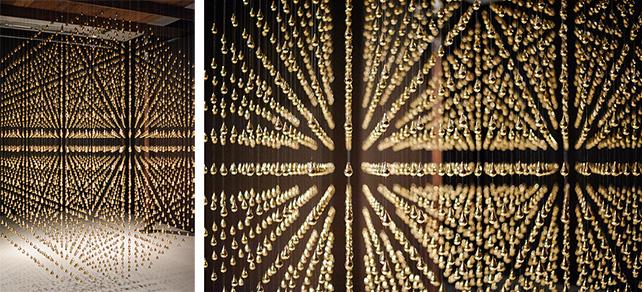 Arin Rungjang, Golden Teardrop, 2013, Sculpture and video installation