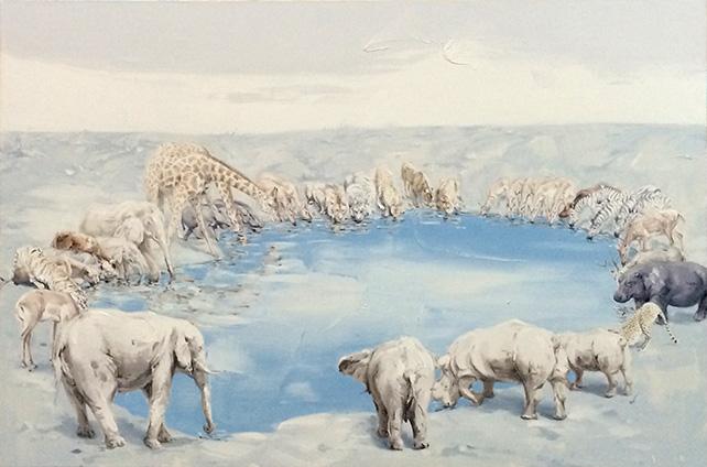 Shen Shu Bin, Our Homeland I, Oil on Canvas 100 x 150 cm, 2014