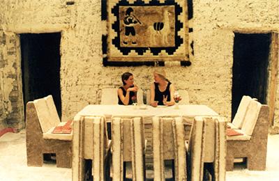 Katherine Cobley (left), Irene Marx (right) at Salar Uyuni (salt desert), Bolivia