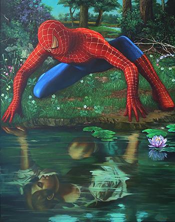 Inside of me, Dadi Setiyadi, 190 x 150 cm, acrylic on canvas, 2014