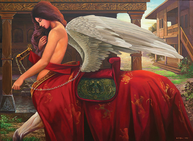 The Buraq, Dadi Setiyadi, 2014, Oil on canvas, 110 x 150 cm