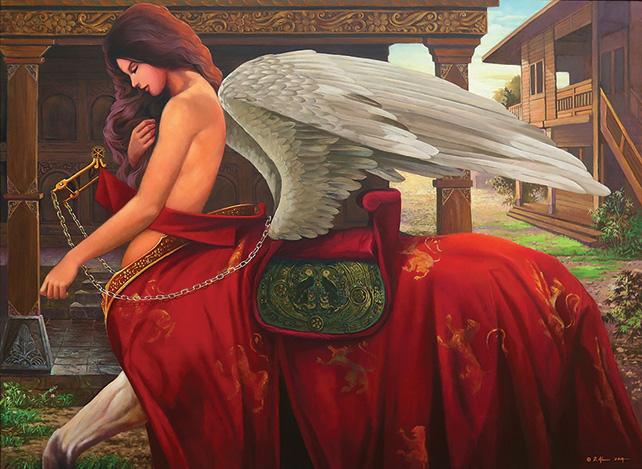 The Buraq, Dadi Setiyadi, 2014, Oil on canvas, 110 x 150 cm