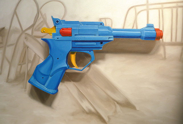 Bembol dela Cruz, Zero Tolerance II, oil on canvas, 91 x 122 cm, 2014