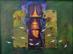 Myint Myint Tin, Acrylic on Canvas, 2013
