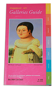 Singapore Art Gallery Guide inaugural issue  December 2004/January 2005