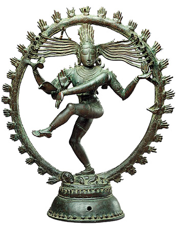 Shiva as Lord of the Dance (Nataraja) c.11th century, Copper alloy, Chola period 68.3 x 56.5 cm  (The Metropolitan Museum of Art) Image source:  http://smarthistory.khanacademy.org/shiva-as-lord-of-the-dance-nataraja.html