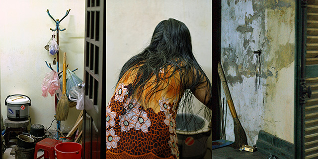 Sherman Ong, HanoiHaiku-Hair, 2006, Digital Print on Archival Paper, 75 x 150 cm Courtesy of the artist and Art Plural Gallery