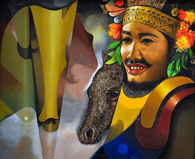 Sudarisman, Male Dancer,  Oil on Canvas, 30 x 25 cm