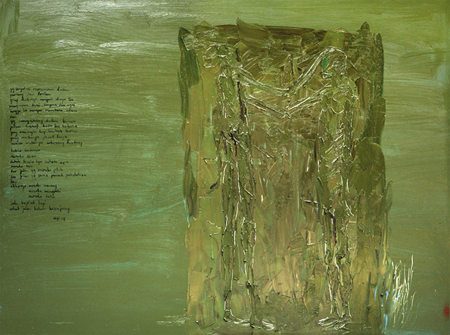 Ugo Untoro, Peziarah (Pilgrim), 2014, Oil on Canvas, 150 x 200 cm