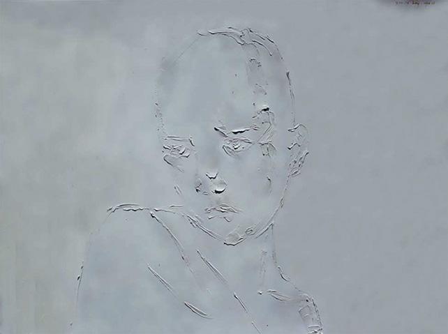 Ugo Untoro, Young Boy, 2014, Oil on Canvas, 150 x 200 cm