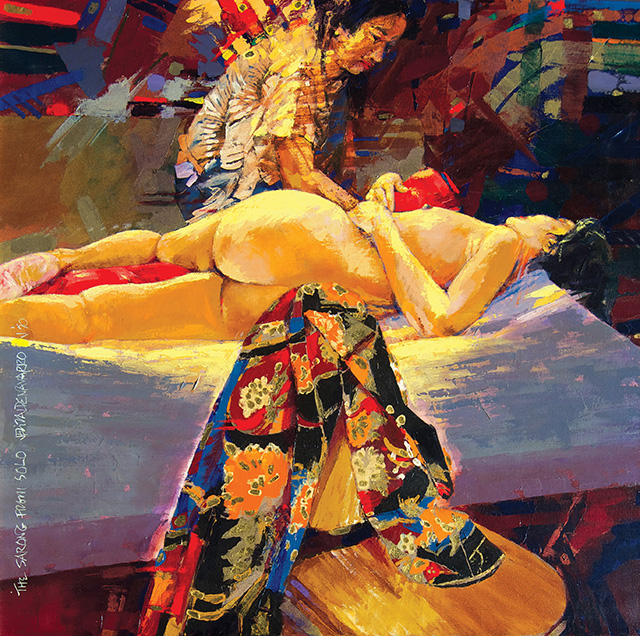 J. Elizalde Navarro, The Sarong From Solo, 1990 Acrylic on canvas, 90 x 90 cm
