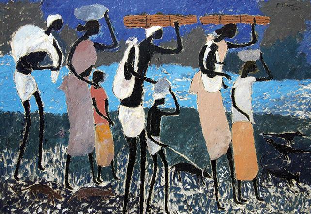 Toil of Love – 01, P Perumal, Oil on canvas, 2007