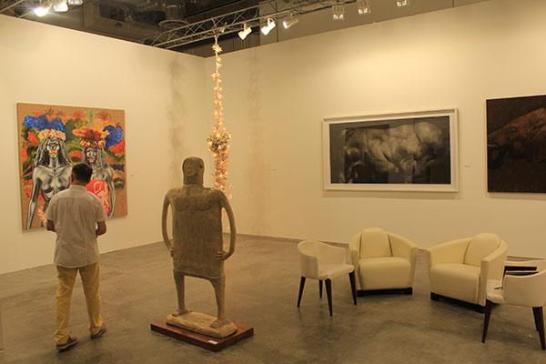 Gajah Gallery's booth