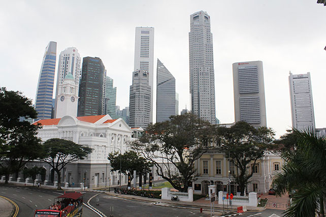 National Gallery Singapore, view from balcony