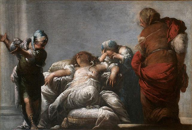 Mazzoni Sebastiano, Morte di Cleopatra, Pinacoteca di Palazzo Roverella