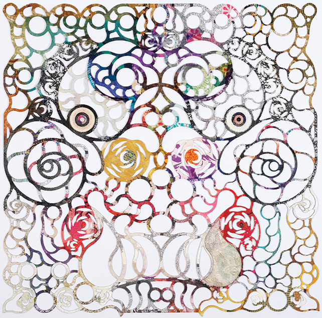 Tan Chin Chin, Dragon, 2015, mixed media on laser cut, 120 x 120 cm