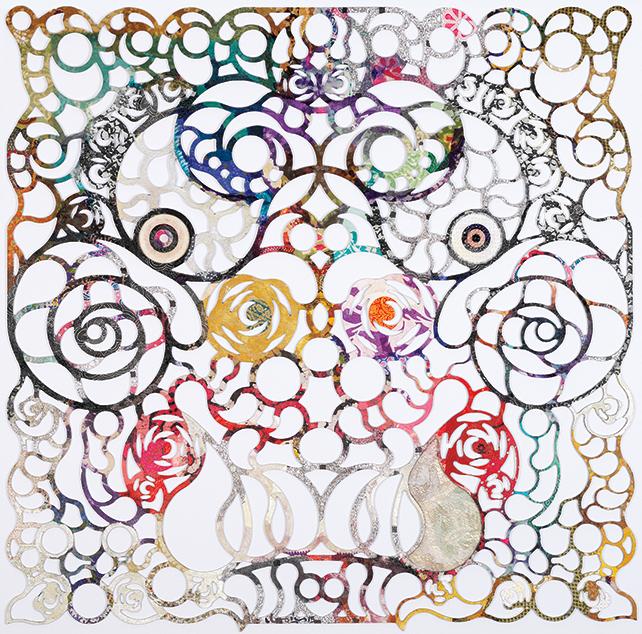 Tan Chin Chin, Dragon, 2015, mixed media on laser cut, 120 x 120 cm