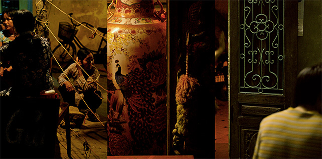 Sherman Ong, HanoiHaiku-Peacock 2006 Digital print on archival paper 75 x 150 cm Courtesy of the artist and Xavier G. Florenzano