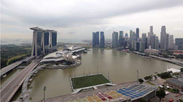 Now: View of Marina Bay from The Ritz-Carlton Millenia Singapore. Photographed on 08 Jan 2015. ST Photo: Ong Wee Jin