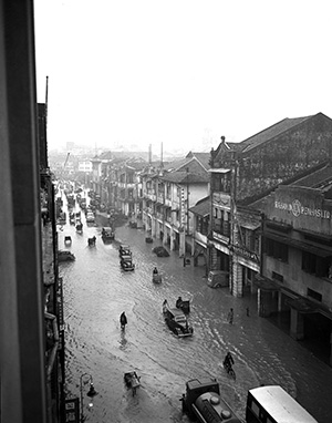 Flood in Cecil Street, Singapore, on June 1, 1948. ST Photo: Photographer unknown 2.