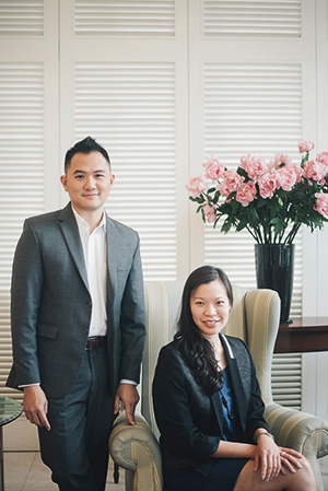 Weiren Loh and Rachel Chin, a biologist and a corporate lawyer, who left their previous professions to join the exciting and fast-paced Singapore art scene. Image courtesy of Barnadas Huang.