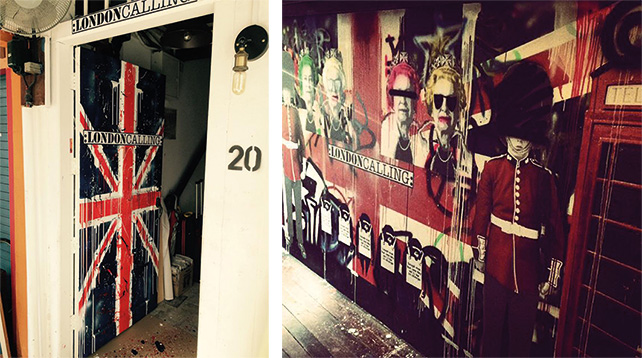 London Calling — entrance and corridor