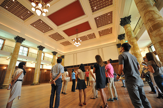 Guests visited the City Hall chamber – an iconic room that played host to many important events in Singapore's history