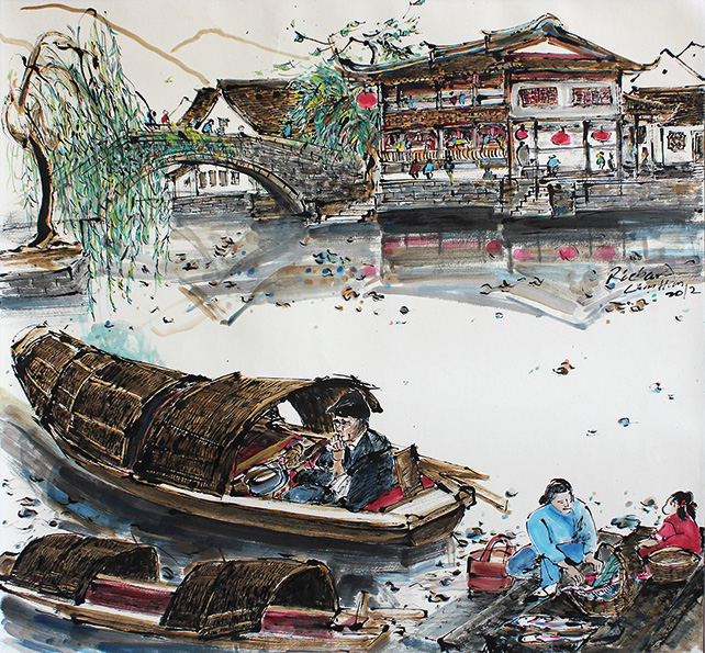 Richard Lim Han, 河的两岸 The Two Sides of the River, 2012, 65 x 69 cm
