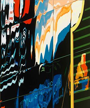 Brendan Neiland, Singapore Symphony, Acrylic on Canvas, 120 x 100 cm
