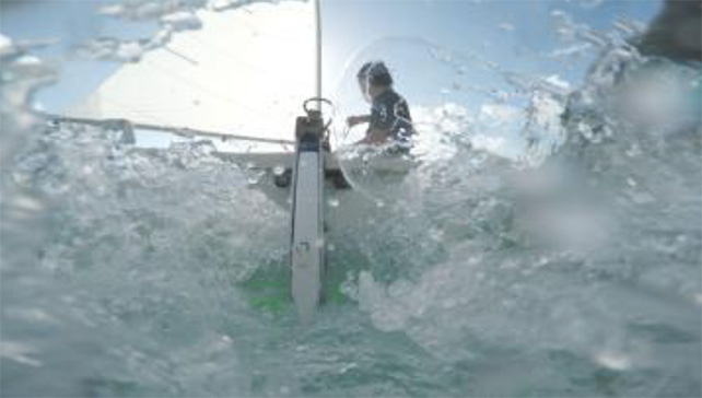 SEA STATE 6: capsize, 2015 Single-channel HD digital video, c.7min Courtesy of the artist & Future Perfect, Singapore