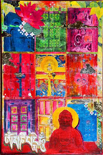 'Moksha' by Sheetal Agarwal Mixed media and acrylic on canvas, 2015