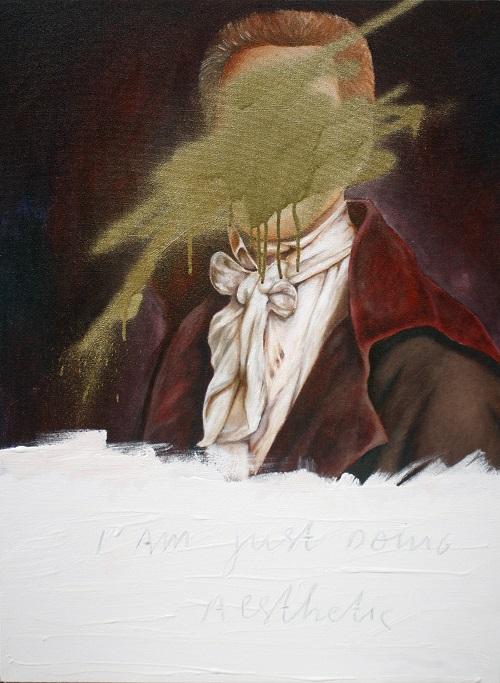Wisnu Auri, I am just doing Aesthetics No. 8 , acrylic lacquer and acrylic on canvas, 80 x 60 cm, 2015