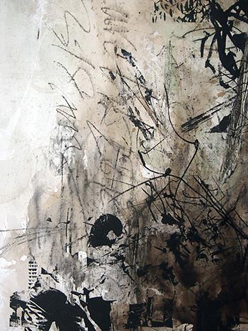 Yeo Shih Yun, Tribute to Mr Lee Kwan Yew, 2015, 40 cm x 240 cm, silkscreen & acrylic on canvas