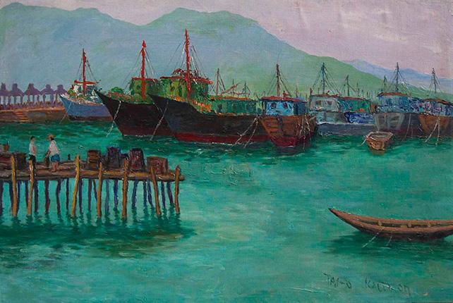 Dr Ho Kah Leong, Hong Kong Tai-O, 2007, Oil & Acrylic on Canvas, 61cm x 92cm