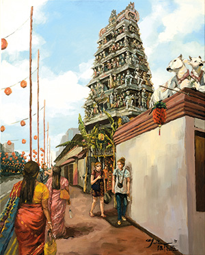 Juliana Chan, Sri Mariamman Temple in Chinatown, 2014