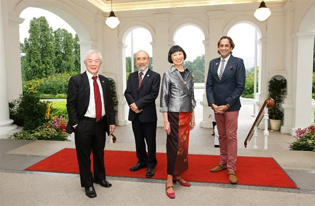 Cultural Medallion 2015 Recipients From L to R: Chia Mia Tee, Lim Hung Chang (Lin Gao), Margaret Leng Tan and Haresh Sharma