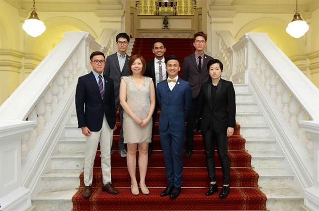Young Artist Award 2015 Recipients Back row (from L to R): Chun Kai Feng, Riduan Zalani and Chun Kai Qun Front row (from L to R): James Tan, Diana Soh, Loo Zihan and Kirsten Tan