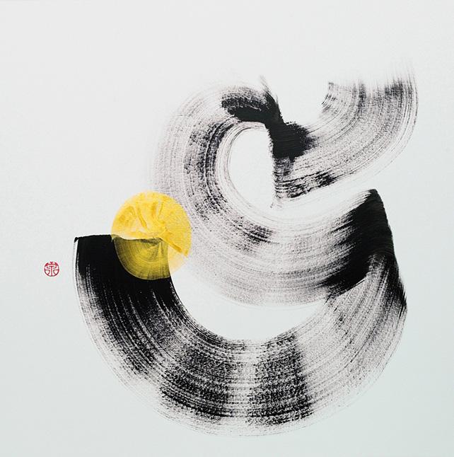 Simon Wee, Abundance, 2015, Acrylic on Canvas, 92 cm x 92 cm