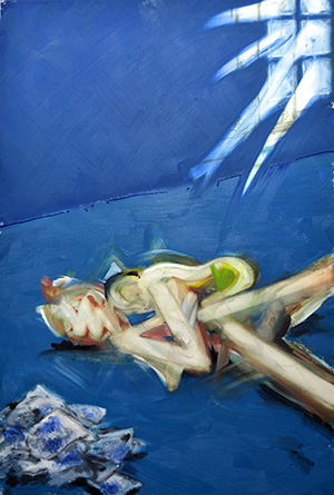 Toshiyuki KONISHI, Untitled (ARTWORK-#1), 2014, Oil on canvas, 194 x 130 cm