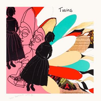 Yinka Shonibare MBE 因卡 • 修尼巴尔 MBE b. 1962 Twins III 双胞胎III, 2015 4 colour silkscreen print with gold leafing on 310gsm Somerset Tub paper 四色丝网印刷、金 箔、纯棉艺术纸 (310 磅) 100 x 100 cm (39 3/8 x 39 3/8 in.) Edition of 20