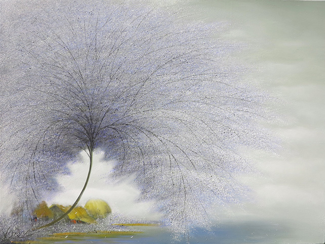 "Vu Cong Dien, ""Tree of Life"", Oil on canvas, 90 x 120 cm"