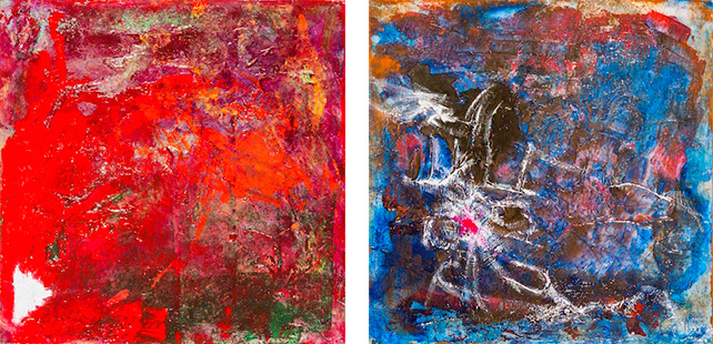 Left: Residue; right: Agony, by Robyn Saurine