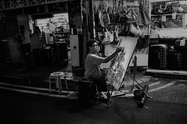 Artist in Chinatown