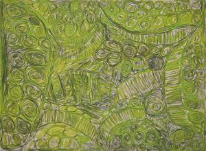 Martuwarra - Sonia KURARRA, 55 x 75cm, Atelier Acrylic Paint and Graphite on 250gsm Velin Arches (Code: 288/15)