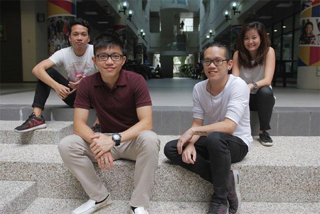 From left: Shahrin Izhar, Kenji Kwok, Amos Chen, Andrea Lim