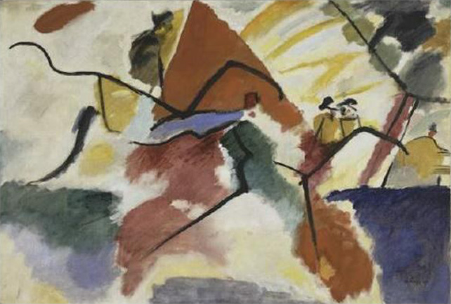 Vassily Kandinsky, Impression V (Park), 1911, Oil on canvas, 106 x 157.5 cm Donated by Mme Nina Kandinsky, 1976, Collection of Centre Pompidou, Paris, MNAM-CCI Photo: © Centre Pompidou, MNAMCCI/Bertrand Prévost/Dist. RMN-GP